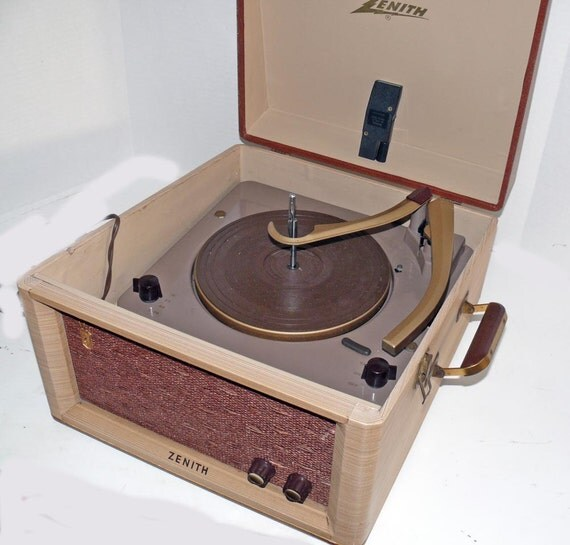 Zenith Table Model Size Portable Record Player