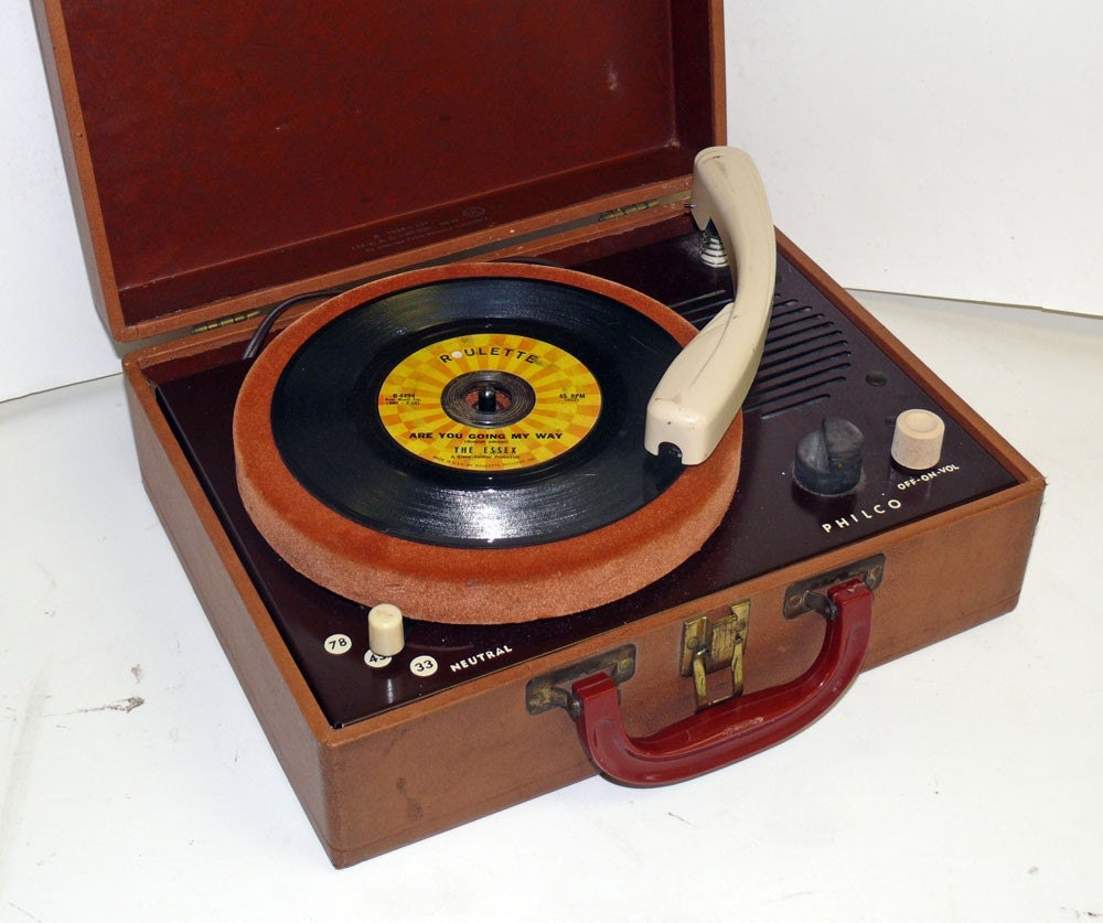 Philco Tube Suitcase Record Player