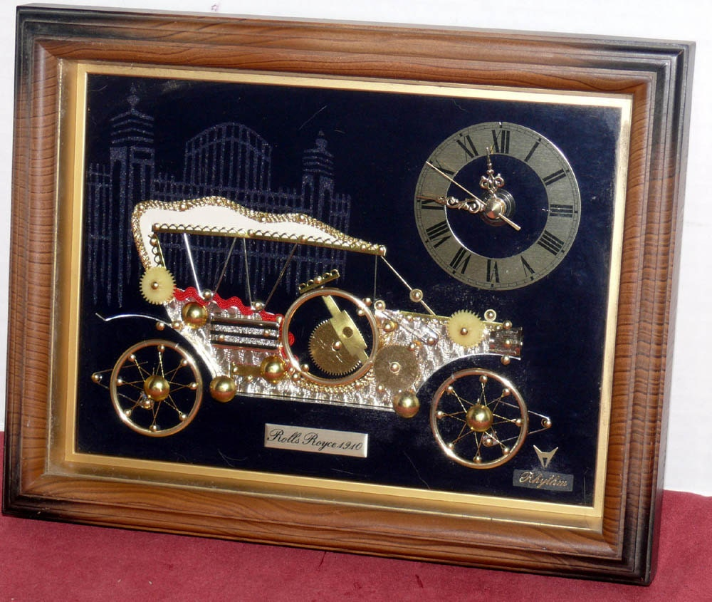 Rolls Royce Novelty Clock Made From Watch Parts And