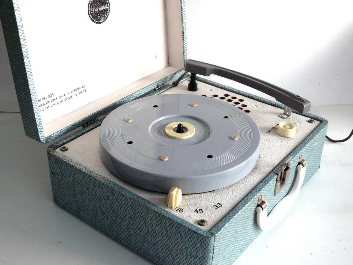 1950 s symphonic portable phonograph record player by allunique