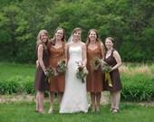 4 Joan bridesmaids dresses-- Custom-Made
