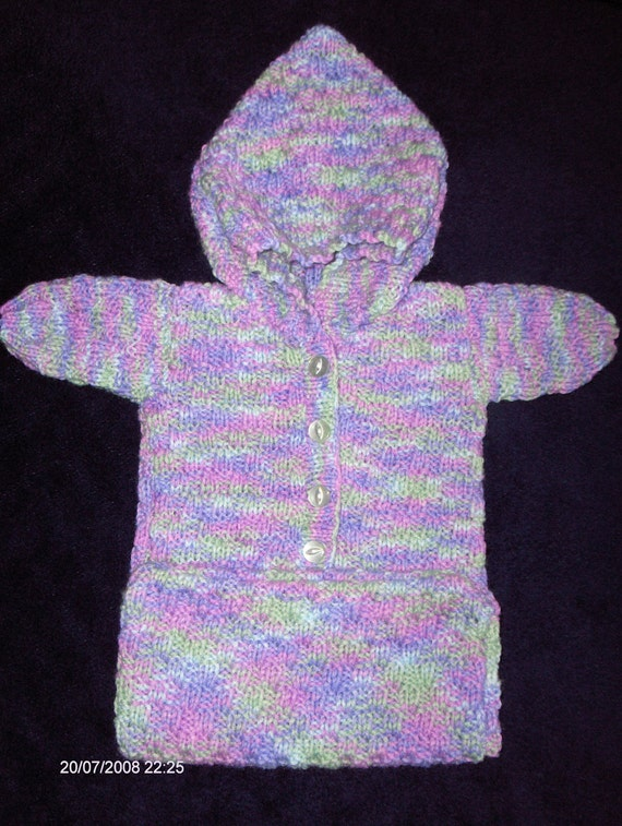 Knitting Pattern Sleeping Bag : Premature Baby Sleeping Bag Knitting Pattern