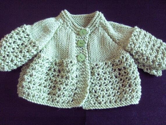 Small Baby Knitting Patterns : Small Baby Sweater Matinee Jacket Knitting Pattern
