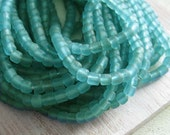 small turquoise blue glass Beads Modern Indo-pacific  - 3 to 5  mm  - 22 inches strand  -  2bgl44