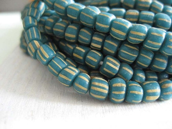 small glass Beads Modern Indo-pacific  - stripe beads multi colors -  3 to 5  mm  - 22 inches strand  -  2bgl1s
