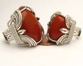 Handmade Wire Wrapped Red Jasper  Sterling Silver Ring. Custom Personalized Sizing to fit you.