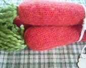 recycled sweater felt- Carrots