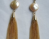 The Becca pearls and chains drop earrings