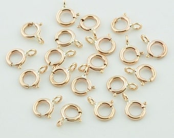 5MM 14K Gold Filled Spring Rings Clasps CLOSED (20)