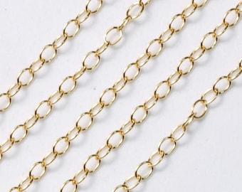 14k Gold Filled Bulk Extender Chain 2mmx3mm 5 FEET