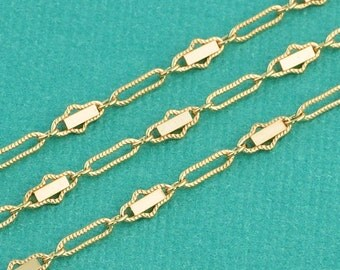 Fancy 14k Gold Filled Bulk Chain 2.58mmx5.68mm link BY THE FOOT
