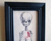 Young and Intact 5x12 Print No. 7 of 100 / Framed, Signed / Morbid, Goth Home Decor