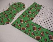 SALE - Football Hemstitch Blanket and Burp Cloths