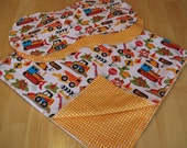 Tot Town - Dig It Hemstitch Blanket and Burp Cloth Set