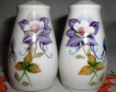 Columbine Flower Salt and Pepper Set