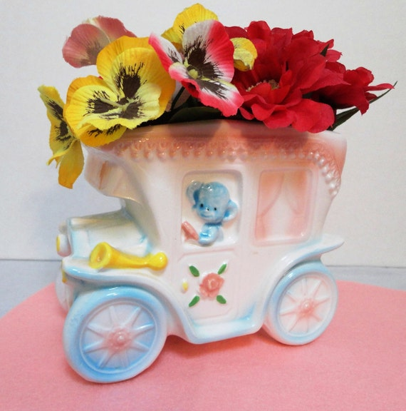 Vintage Relpo Jitney Baby Planter