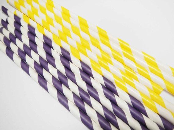 Yellow Striped Paper Straws Yellow White Striped Paper