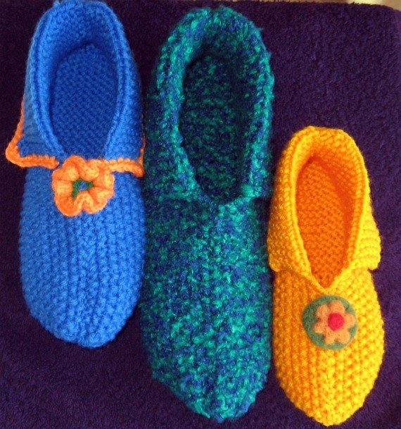 Knitted Slipper Patterns : Knitted Slippers pattern