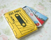 Cassette card case simple screen printed (SALE)