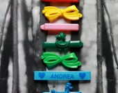 vintage barrettes from the 1980s