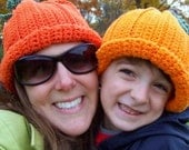 The Great Pumpkin Hat Custom Boutique Crocheted Pumpkin Hat, great for Girls and Boys and Adults too