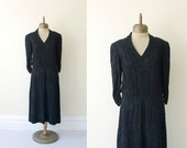 RESERVED LISTING for marine  1930s vintage heavy embroiedered dropwaist dress sz L