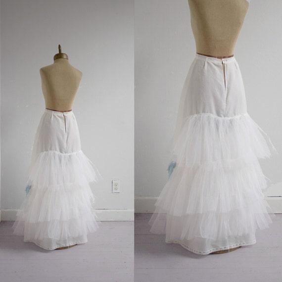 SALE petticoat 1950s vintage SYDNEY BUSH layered tulle crinoline