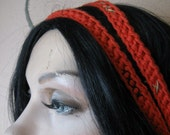 "HEADBAND CROCHET DOUBLE Strand ""Punk Princess"""