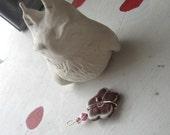 PENDANT FLOWER MARSALA Porcelain