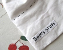 CUSTOM LABELS EMBROIDERED Twill Set of Six