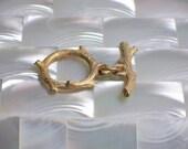 Jewelry Clasp, MEDIUM size Clasp, Toggle Clasp, Gold Clasp, Single Strand Clasp, Jewelry Supplies Jewellery Supplies Organic