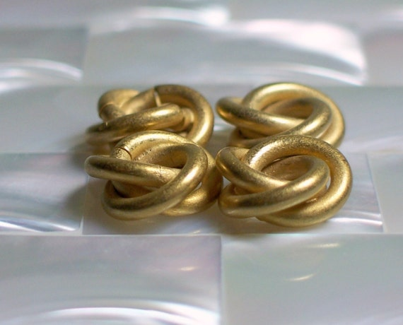 RESERVED LISTING Knot Bead Love knot beads Matte Gold 10mm 2 sets of 4pcs