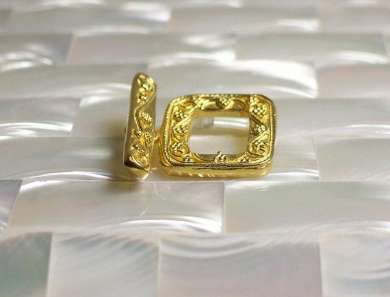 Clasp Toggle Gold vermeil Large Rectangle shape