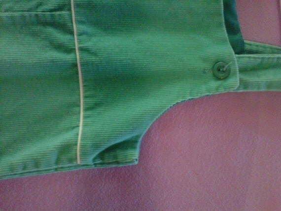 Vintage turquoise corduroy overalls 24months - 2t