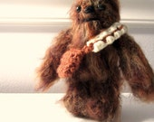 RESERVED FOR JUSTIN - Chewbacca - Long Haired - Star Wars Miniature Amigurumi Doll - Made to Order