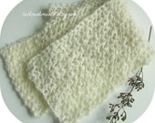 Lacy Knit Scarf Off White Cream, Classy Elegant and Timeless by lostsentiments