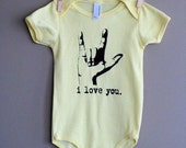 I Love You Screenprinted Shortsleeved Onesie