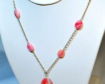 Rhodochrosite, and Pearl Necklace