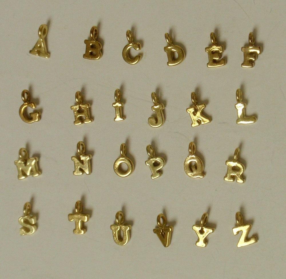 Letter Charm Bracelets: Gold Vermeil Letter Charms