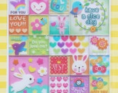Cute Square and Rectangle Sticker Sheet-Set have a nice day