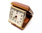 Vintage Alarm Clock, Retro SEARS Folding Travel Alarm Clock Case