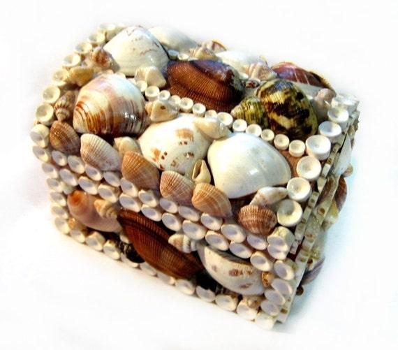 Sailor's Valentine Seashell Art Trinket or Jewelry Box