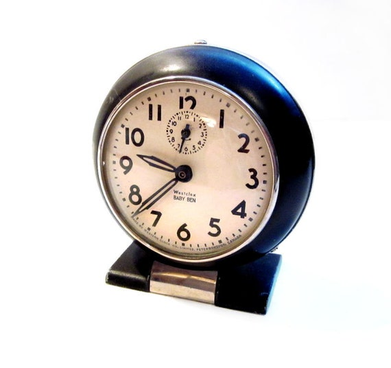 Vintage Baby Ben Westclox Wind Up Alarm Clock By