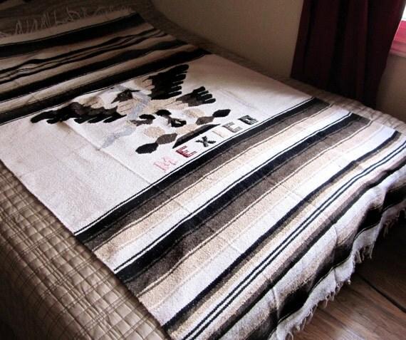 Handmade Mexican Blanket, Eagle Throw