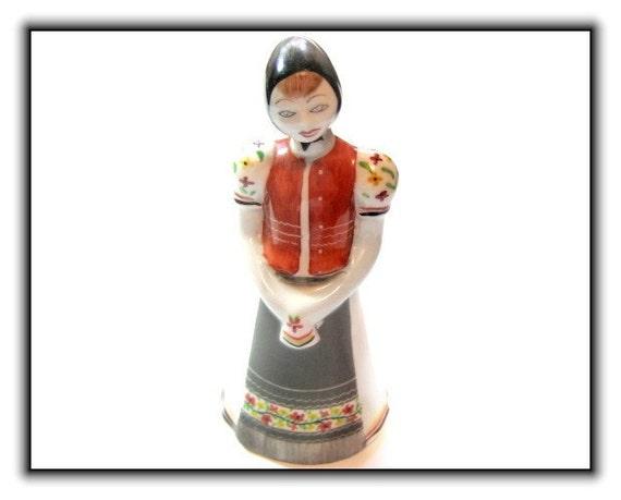 Hollohaza Hungarian Porcelain Figurine Vintage