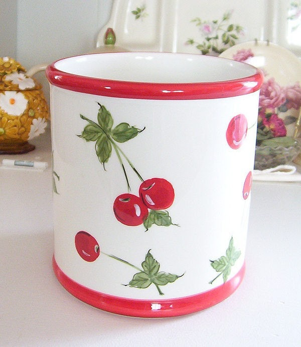 Cherries Cherry Kitchen By Vintage Retro Style Ceramic Cherries Cherry Kitchen By Debster222