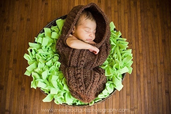 Custom Crochet Newborn Baby Snuggle Sac Cocoon