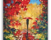 A Walk in the Park--print 8 x 10 by Kelly Gentry abstract, contemporary landscape