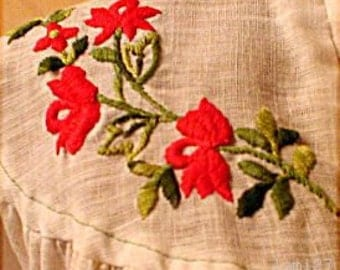 70s Vintage Embroidered Peasant Blouse, Hippie Girl Chic