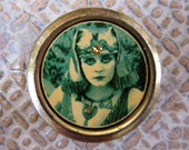 Theda Bara- Treasure Tin Can - ONE-OF-A-KIND 1.25inch (diameter) x 0.75inch (height)